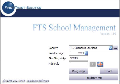 PHẦN MỀM QUẢN LÝ TRƯỜNG HỌC FTS SCHOOL MANAGEMENT