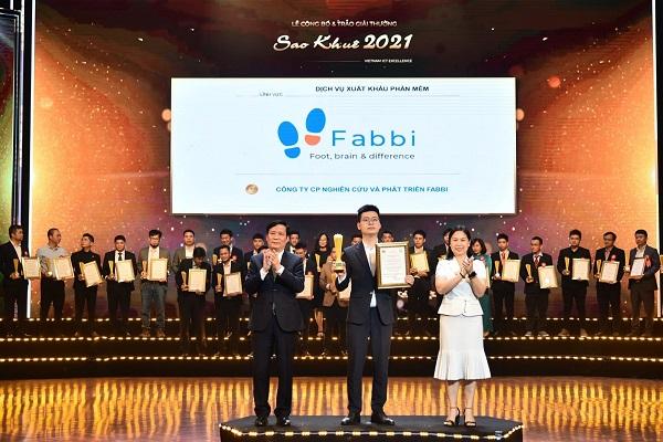 Dịch vụ Xuất khẩu Phần mềm FABBI JSC vinh dự nhận giải thưởng Sao Khuê 2021