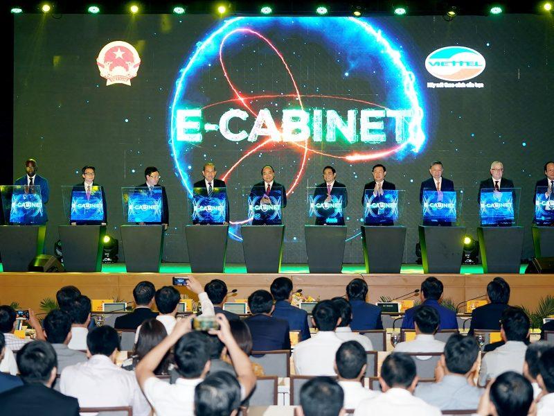 Viettel e-Cabinet giảm ít nhất 30% thời gian các phiên họp của Chính phủ
